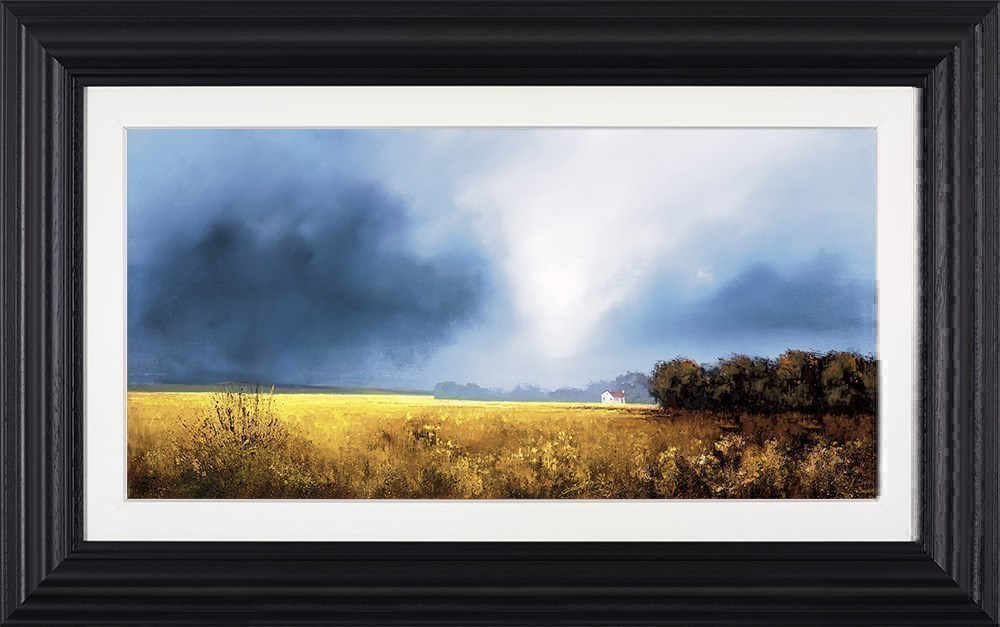 Shades of Dawn by Barry Hilton - Hand Finished Canvas on Board sized 25x12 inches. Available from Whitewall Galleries